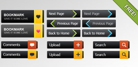 45 Free And Useful Web Buttons In PSD Format 33
