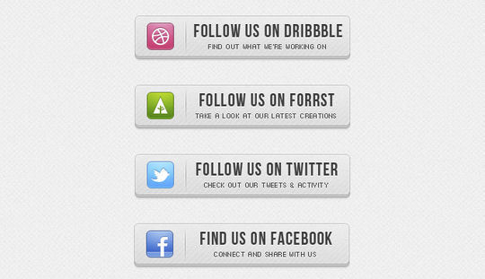 45 Free And Useful Web Buttons In PSD Format 38
