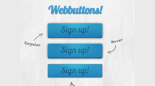 45 Free And Useful Web Buttons In PSD Format 43