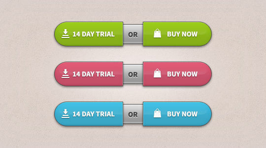 45 Free And Useful Web Buttons In PSD Format 25