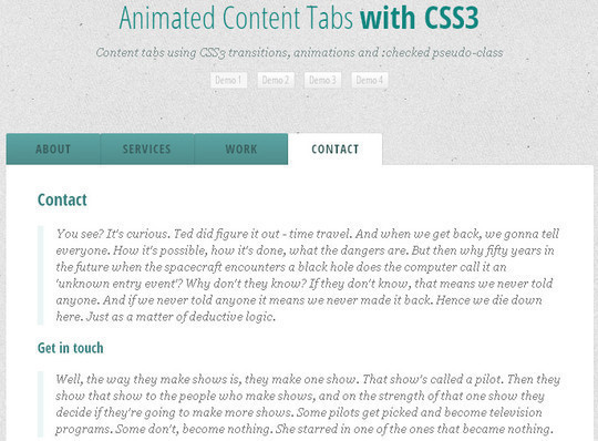 CSS3 Tutorials For Advanced User Interface Effects 3