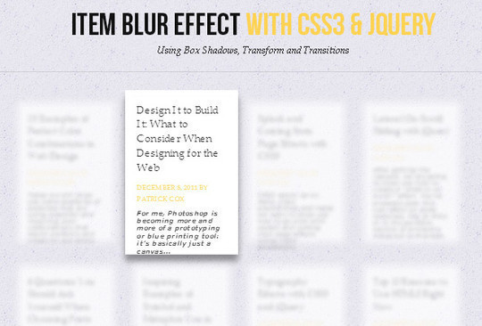CSS3 Tutorials For Advanced User Interface Effects 30
