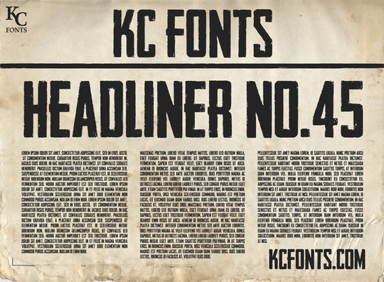 45 Dirty And Rough Free Fonts For Your Design 20
