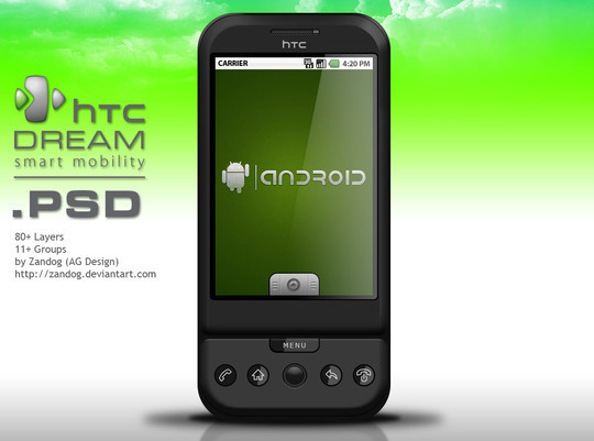 14 Free Mobile Phone And LCD Display PSD Template 6
