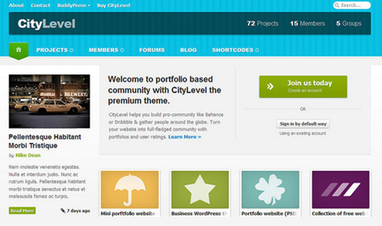 14 Fresh And Free PSDs Of Website Templates 12