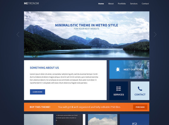 14 Fresh And Free PSDs Of Website Templates 13