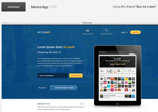 14 Fresh And Free PSDs Of Website Templates 9