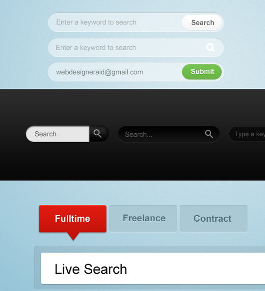 45 Search Box PSD Designs For Free Download 24