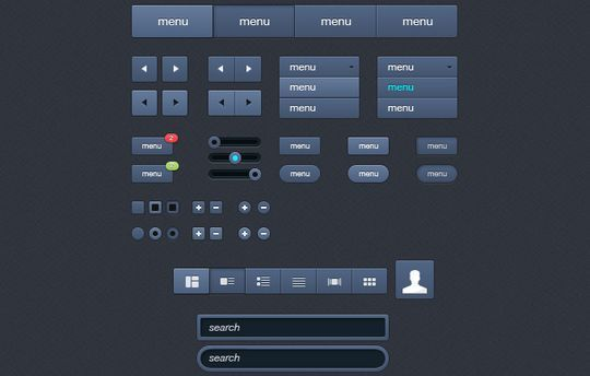 45 Fresh Web And Mobile UI Kits With PSD Files For Designer 27