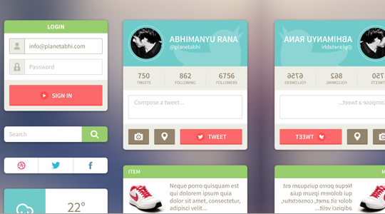 45 Fresh Web And Mobile UI Kits With PSD Files For Designer 16