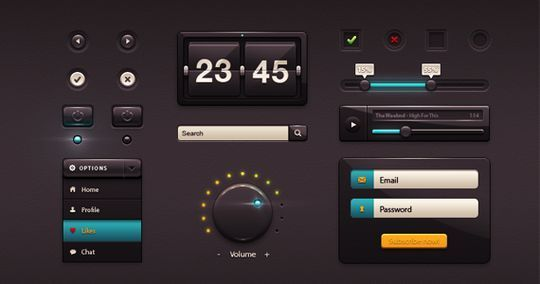 45 Fresh Web And Mobile UI Kits With PSD Files For Designer 7
