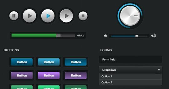 45 Fresh Web And Mobile UI Kits With PSD Files For Designer 38