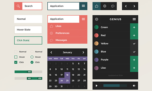 45 Fresh Web And Mobile UI Kits With PSD Files For Designer 8