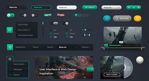 45 Fresh Web And Mobile UI Kits With PSD Files For Designer 4