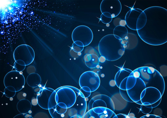 20 Free Water Wave & Bubbles Vector Backgrounds 17