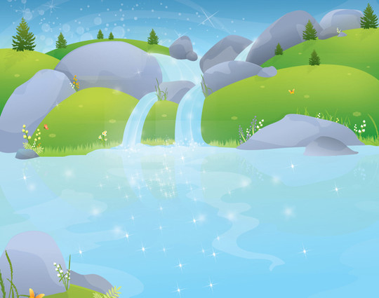 20 Free Water Wave & Bubbles Vector Backgrounds 1