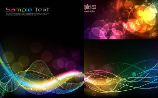 20 Free Water Wave & Bubbles Vector Backgrounds 12