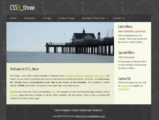 50 High Quality Free HTML5 And CSS3 Web Templates 17