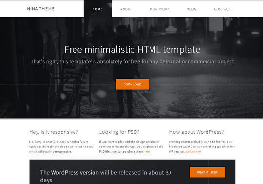 50 High Quality Free HTML5 And CSS3 Web Templates 8
