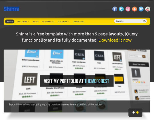 50 High Quality Free HTML5 And CSS3 Web Templates 10