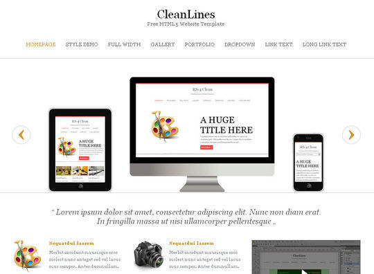 50 High Quality Free HTML5 And CSS3 Web Templates 18
