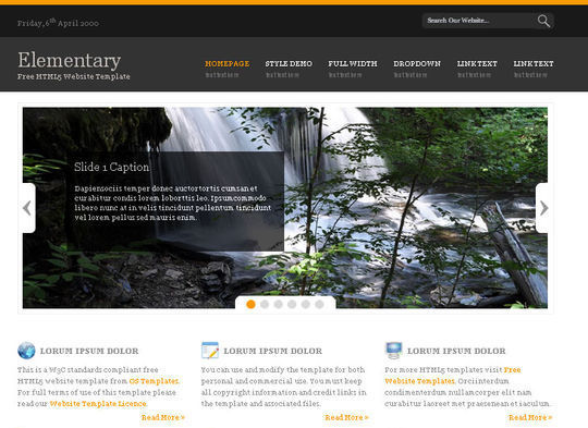 50 High Quality Free HTML5 And CSS3 Web Templates 25