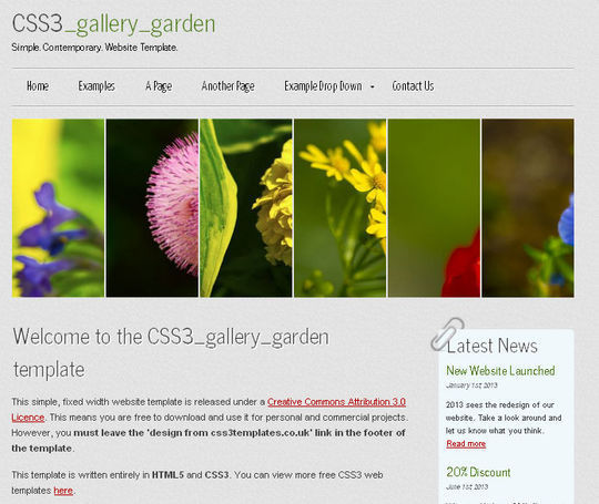 50 High Quality Free HTML5 And CSS3 Web Templates 6