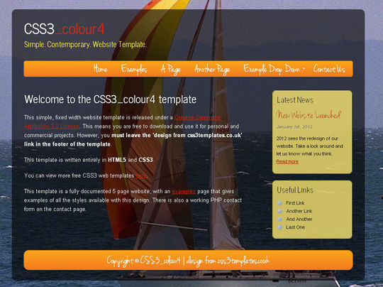 50 High Quality Free HTML5 And CSS3 Web Templates 11