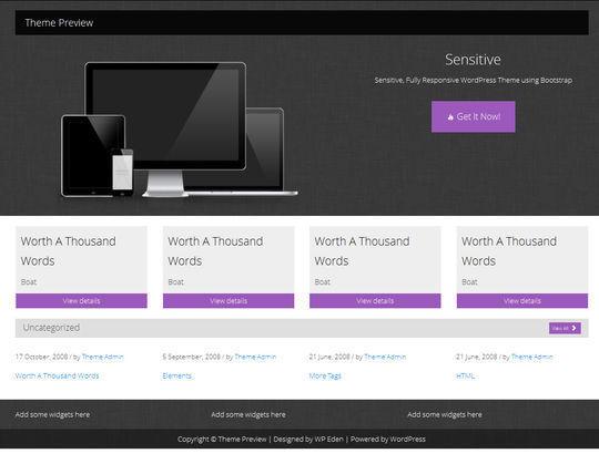 12 Free HTML5 And Responsive WordPress Themes 3