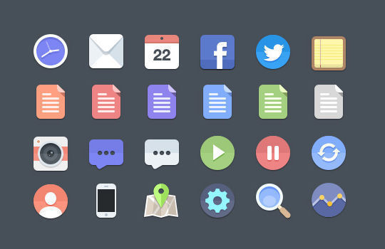 40+ Fresh And Free Icons In PSD Format 12