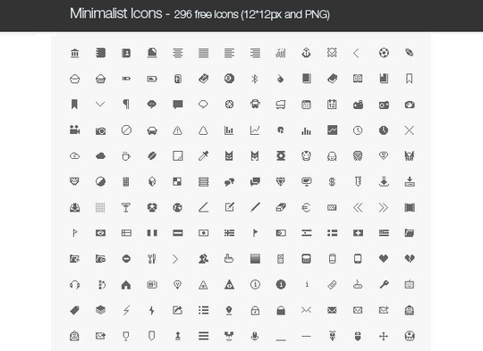 40 High Quality And Free Minimalistic Icon Sets 5