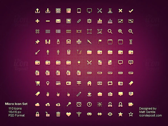 40 High Quality And Free Minimalistic Icon Sets 7