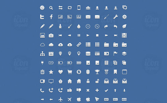 40 High Quality And Free Minimalistic Icon Sets 24