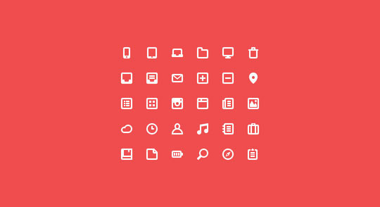 40 High Quality And Free Minimalistic Icon Sets 16