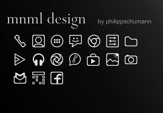 40 High Quality And Free Minimalistic Icon Sets 18