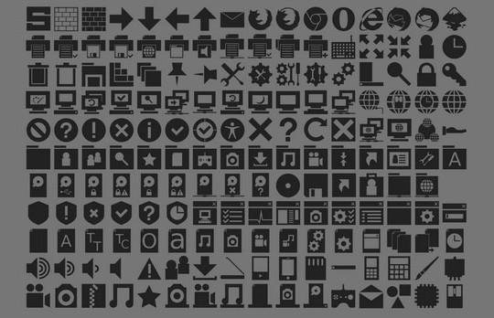 40 High Quality And Free Minimalistic Icon Sets 22