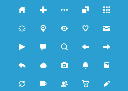 40 High Quality And Free Minimalistic Icon Sets 34