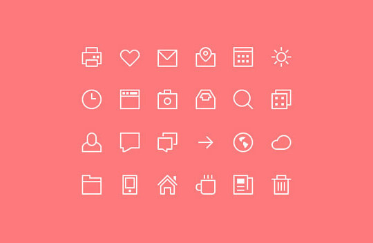 40 High Quality And Free Minimalistic Icon Sets 11