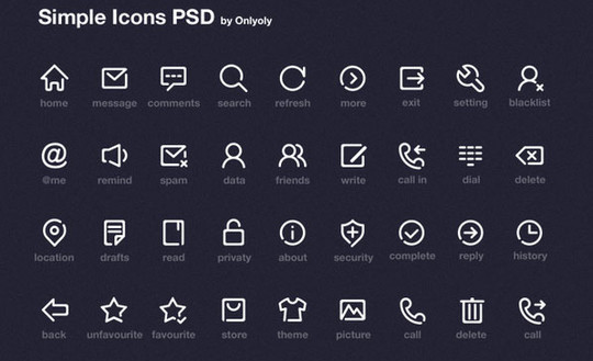 40 High Quality And Free Minimalistic Icon Sets 15