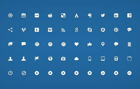 40 High Quality And Free Minimalistic Icon Sets 6