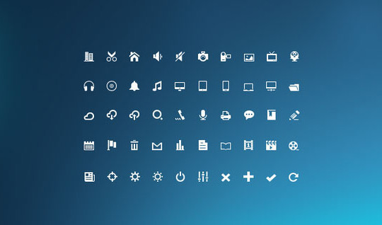 40 High Quality And Free Minimalistic Icon Sets 39