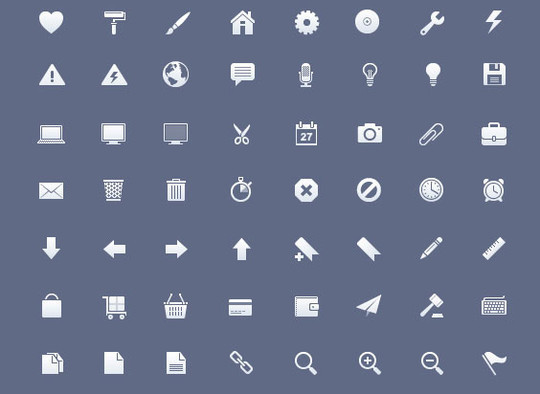 40 High Quality And Free Minimalistic Icon Sets 44