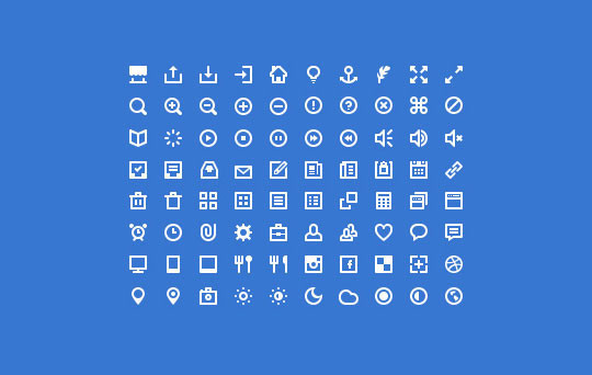 40 High Quality And Free Minimalistic Icon Sets 10