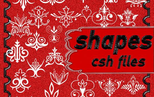 15 Useful Free Photoshop Custom Shapes Set 7