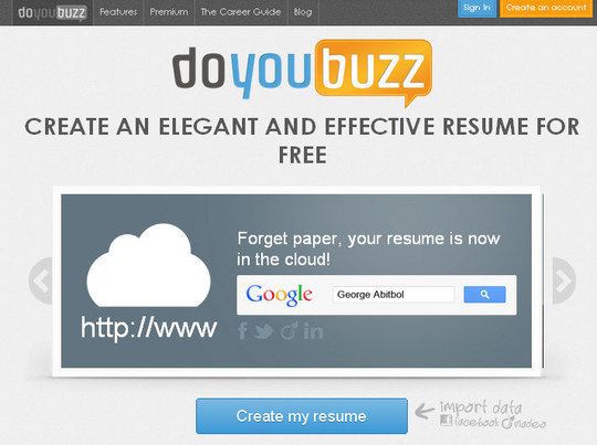 11 Free Online Tools To Create Professional Resume 3