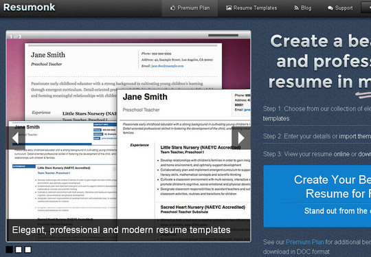 11 Free Online Tools To Create Professional Resume 10