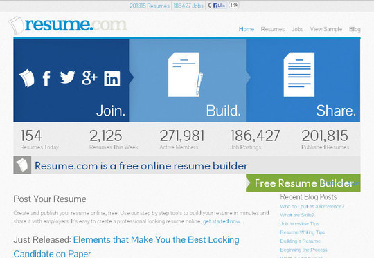 11 Free Online Tools To Create Professional Resume 2
