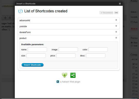 40 Useful Shortcode Plugins For WordPress 3