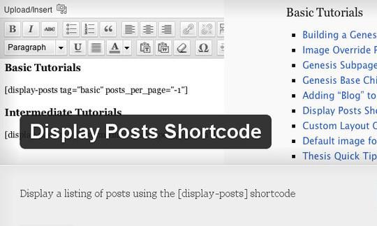 40 Useful Shortcode Plugins For WordPress 17