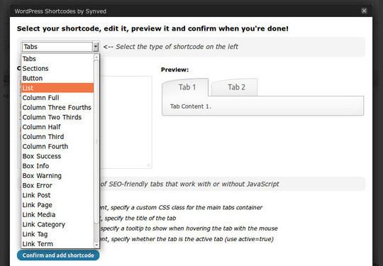 40 Useful Shortcode Plugins For WordPress 9